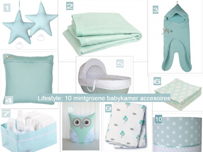 10 mintgroene accessoires voor de babykamer - GoodGirlsCompany