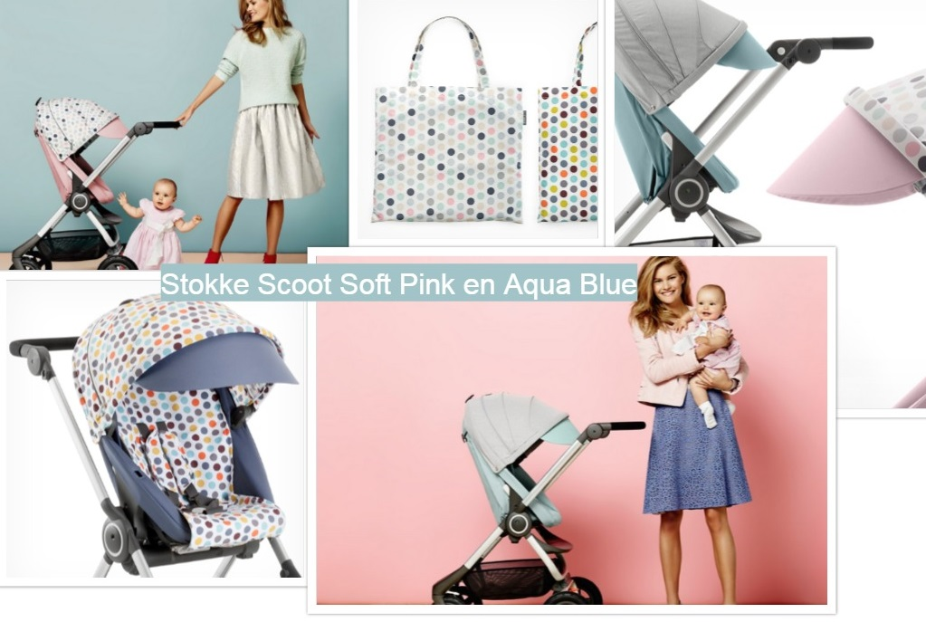 Stokke Scoot- Soft Pink and Aqua Blue-Style Kits Soft Dots and Retro Dots-GoodGirlsCompany