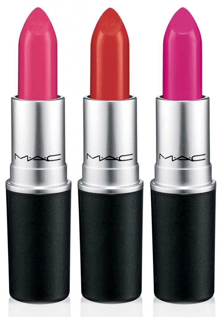 Lipstick No Faux pas - yellow hot pink (matte) & Cardinal - yellow burgundy red (satin),  Lipstick Hollywood cerise - magenta berry (satin) EUR 19,00