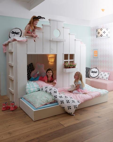 Twee kinderen op een kamer-Saartje Prum-Vogelhuisbed-GoodGirlsCompany