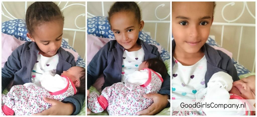 GoodGirlsCompany-geboorte miss C-Kennismaking tussen B en C-oudere broertjes en zusjes betrekken bij gezinsuitbreiding