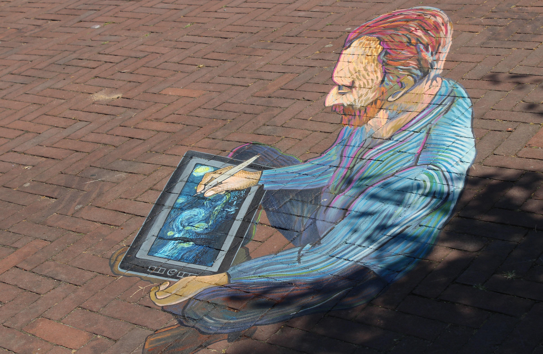 Mamachallenge-GoodGirlsCompany-World Street painting Festival-GoodGirlsCompany-Van Gogh