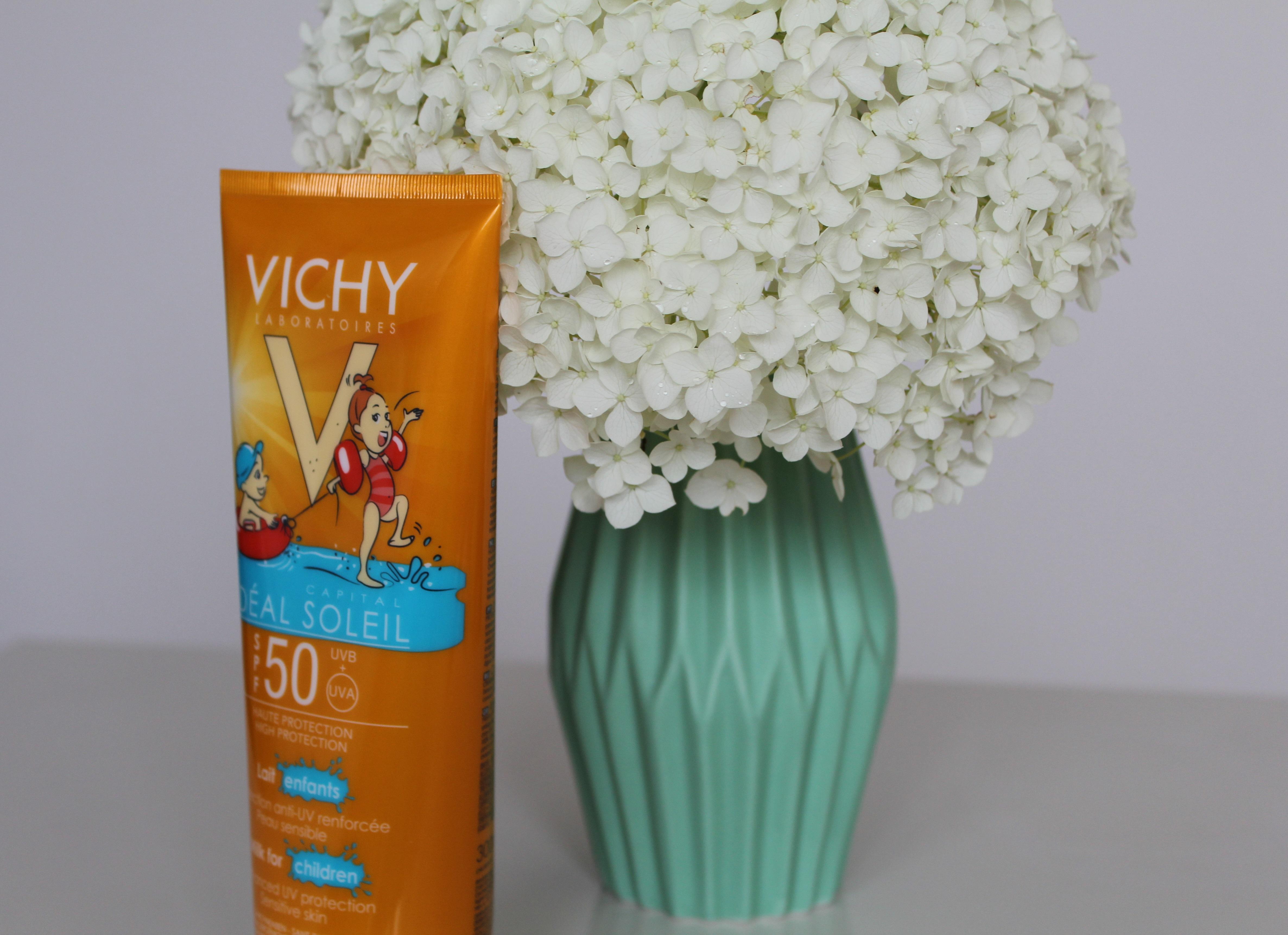 Vichy Idéal Soleil Kind SPF50- Ervaringen Vichy Idéal Soleil Kind SPF50-GoodGirlsCompany-zonnebrandmelk voor kinderen