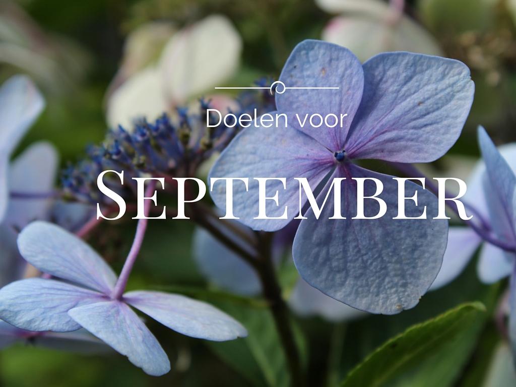 Doelen voor september