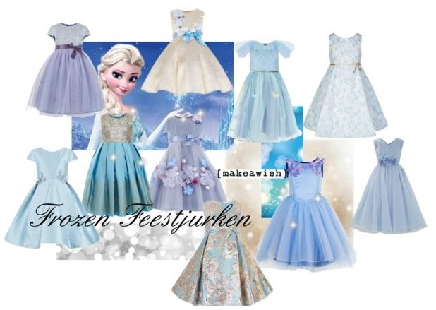 Frozen Feestjurken-feestkleding voor meisjes-GoodGirlsCompany-kerstjurkjes voor meisjes