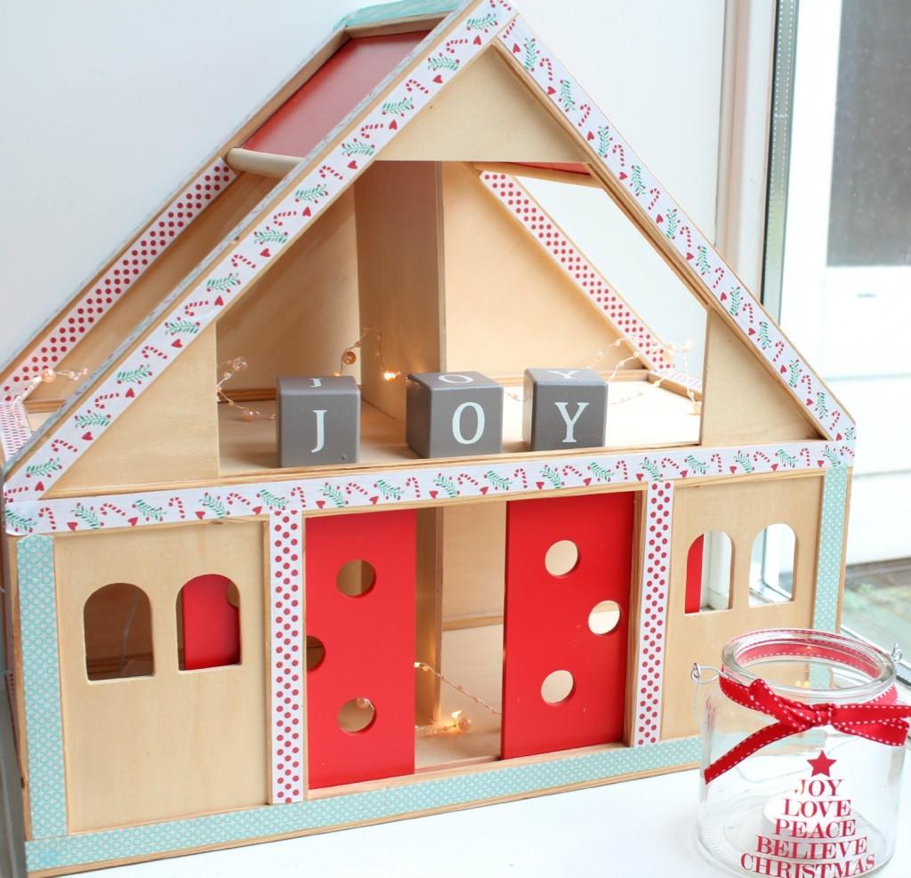 pimp kersthuisje-leuke kerst DIY-GoodGirlsCompany-GoodGirlsChristmas-Joy to the world