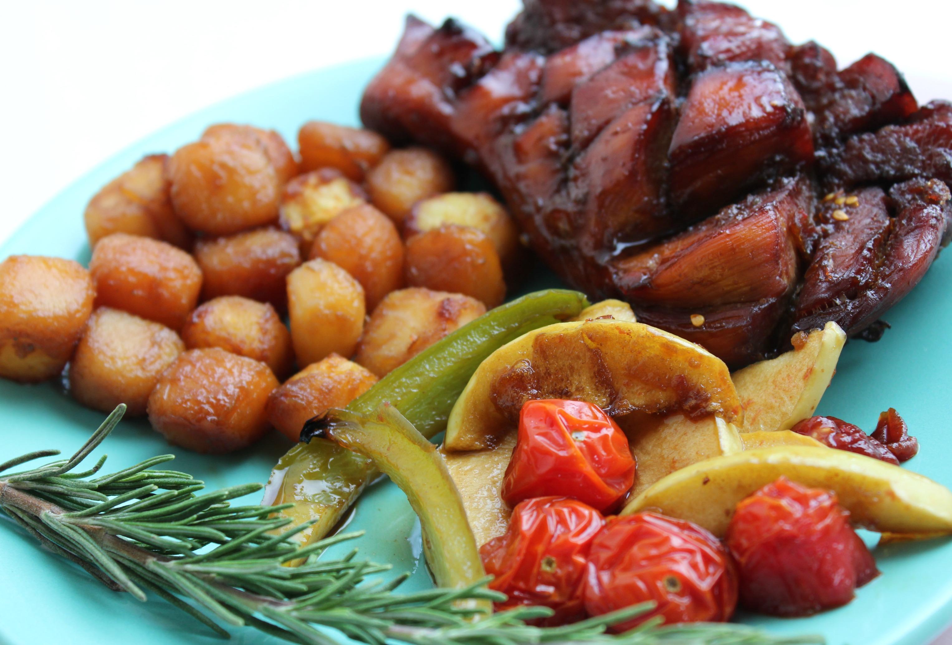 gekarameliseerde kip-GoodGirlsCompany-kip uit de oven