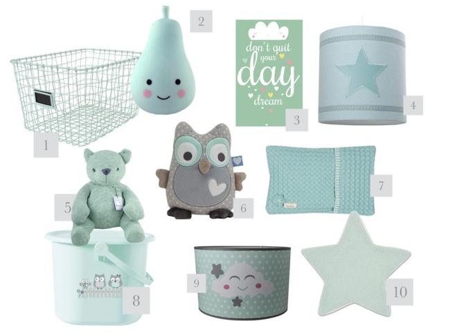 de leukste mintgroene babyspullen voor de baby- en kinderkamer, Deco ideeën