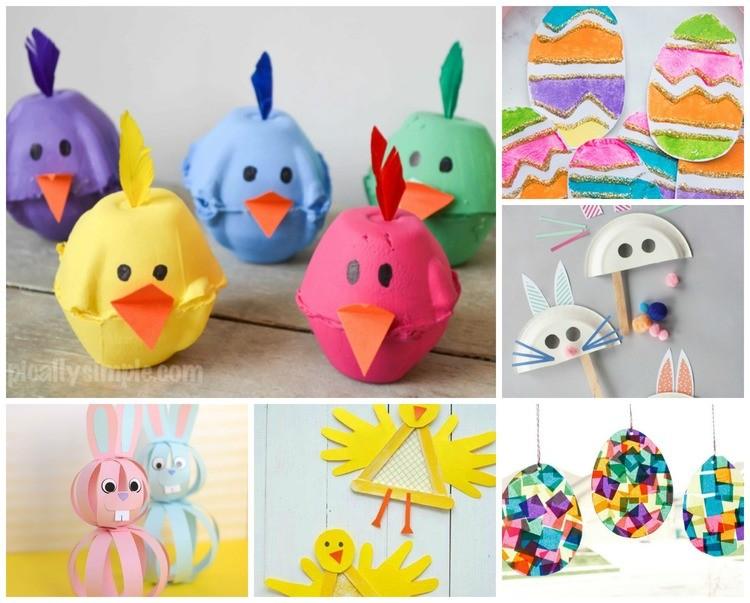 Paasdecoratie maken knutselen voor Pasen