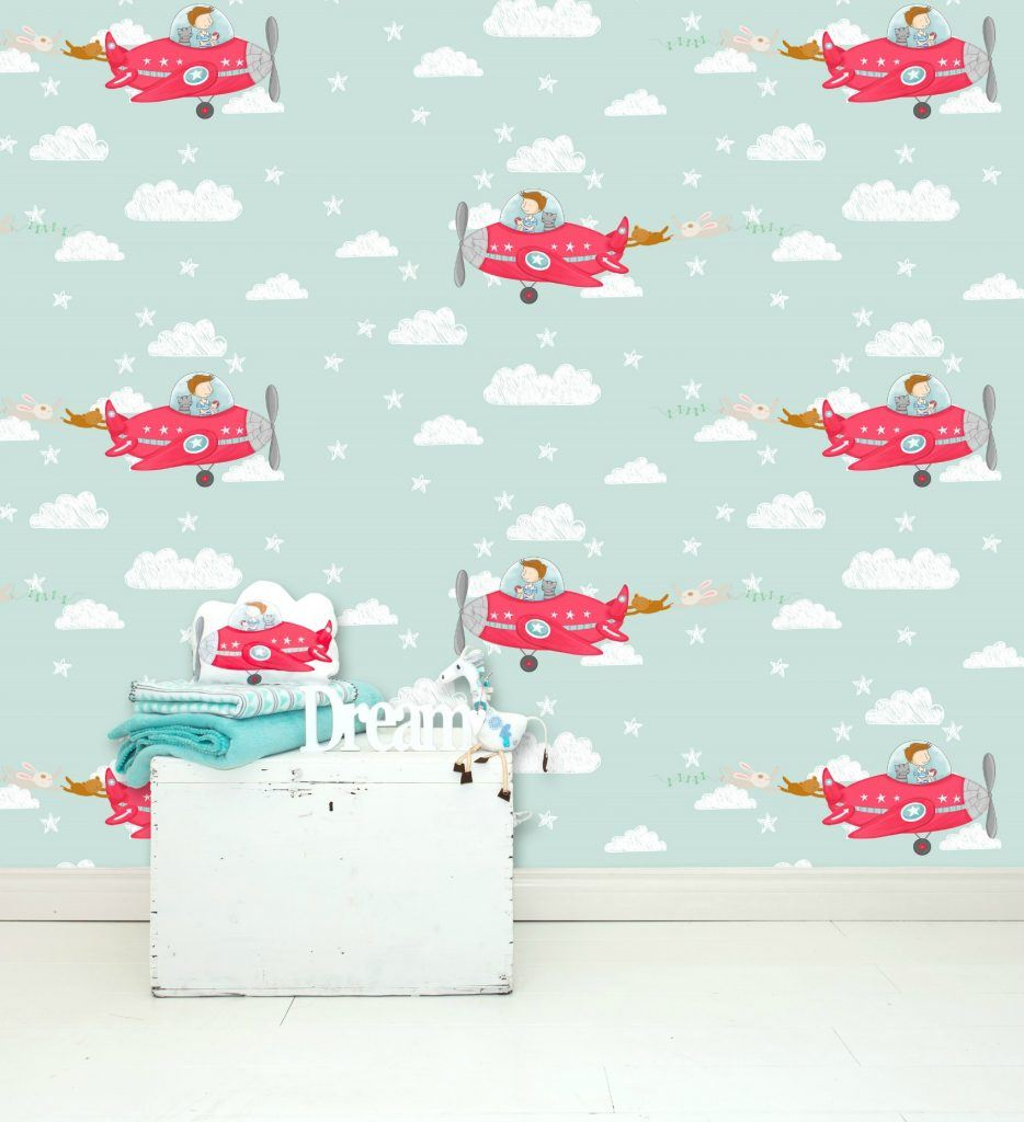 vliegtuig-behang-mint-GoodGirlscompany