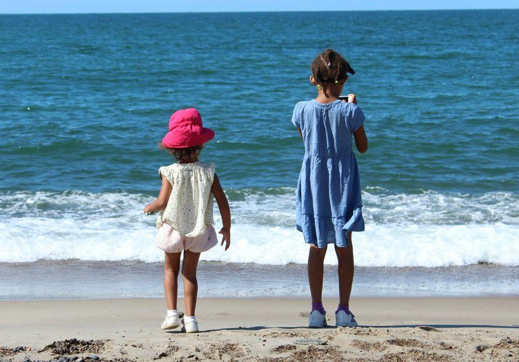 Uitwaaien op het strand van Thyboron